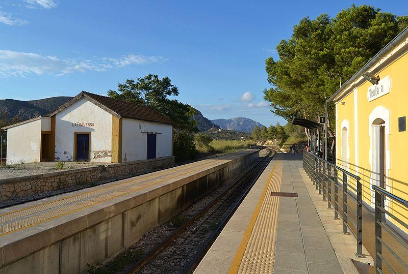 Geen treinen tussen Denia en Calpe