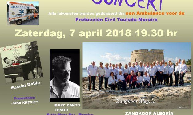 Benefiet Concert Koor Alégria op 7 april a.s. om 19.30